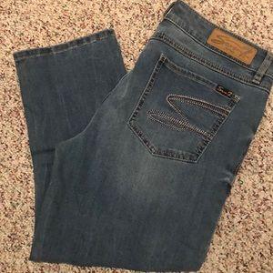 Seven 7 skinny cropped medium wash jean
